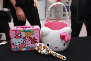 Hello Kitty's image decorates all sorts of merchandise.