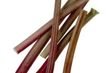 Choose crisp, bright stems of rhubarb.