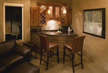 The size of your entertainment room may determine what type of bar works best for the space.