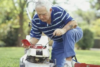 Enliven your lawn mower's appearance with a fresh coat of paint.