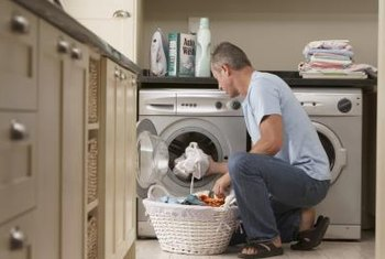 Save unnecessary wear and tear on your back with a washer/dryer platform.