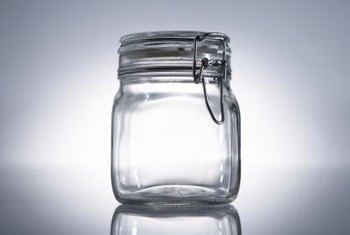 Glass jars are a moisture-proof option for storing moonflower seeds.
