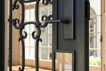 Keep your wrought-iron door clean and rust-free with regular maintenance.