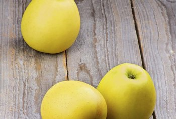 """Golden Delicious"" apples are used in baking for a less-tart apple flavor."