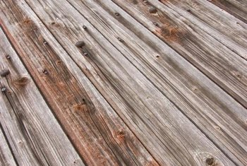 Redo a second-story deck when the wood become unsafe.