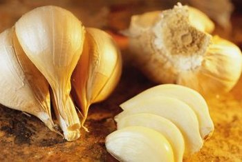 Cooked garlic adds flavor to many dishes.