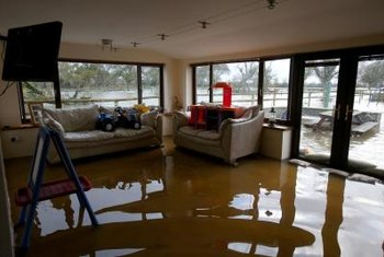 Flood damage will not be covered by regular homeowner's insurance.
