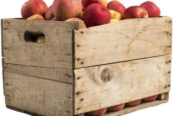 Once you've eaten the apples, slap some wheels on that crate for a portable bedroom toy box.