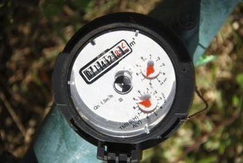 Main water valves are usually located near water meters.