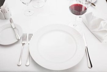 Soup bowls or salad plates are optional for an informal place setting, based on the meal.