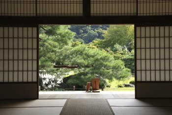 Shoji panels create a peaceful space that blends with nature.
