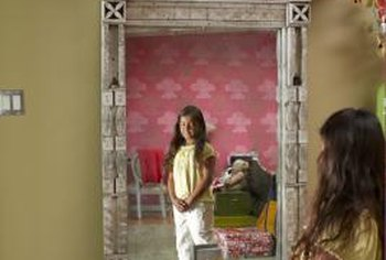 Delight a little girl with her own antique princess mirror.