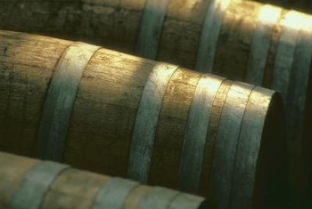 White oak lumber is used to make barrels.