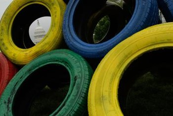 Tires can be recycled and shredded for other uses, or repurposed as playground equipment.