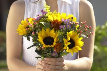 For summer bouquets, plant dwarf sunflowers after frosts are over.