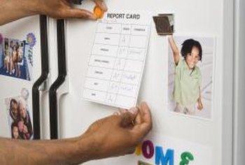 Make your own refrigerator magnets for custom ways to hold and display artwork and messages.