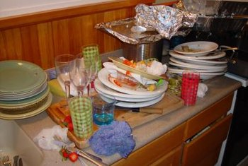 Avoid letting dirty dishes stack up over a few days.