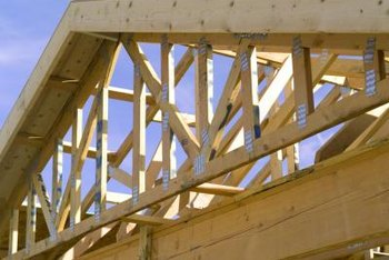 Engineered trusses bear roof loads efficiently.