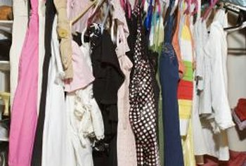 With a little organization and cleaning, a cluttered closet will become roomier.