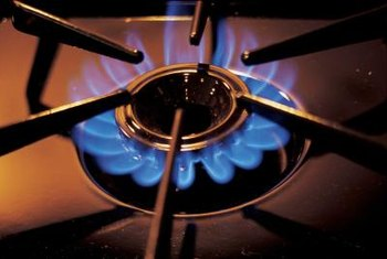 Gas stove top burners may be lit with matches during power failures.