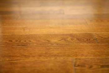 Dry wood flooring can crack and splinter.