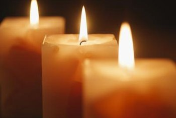 Those candles could be the culprits behind the stains on your walls.