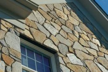 Fascia stone gives the look of solid rock construction.