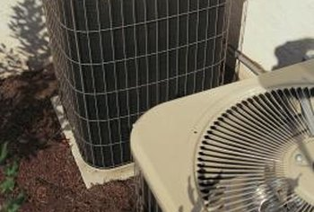 Proper clearance around central air conditioners is important for efficient operation.