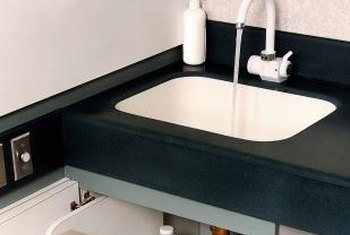 A fiberglass countertop is very durable, but requires some extra cleaning products when stained.