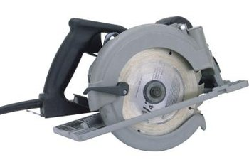 A carbide blade in a circular saw works best when replacing a rotten floor.