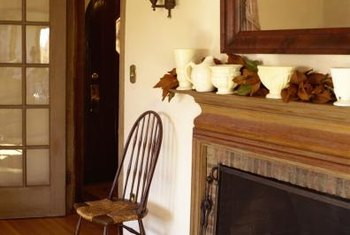 The mantel is a convenient place to display your favorite art.