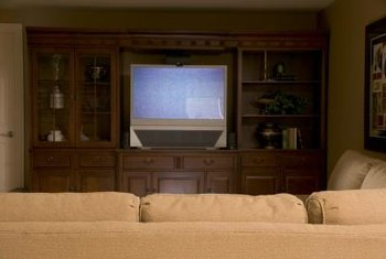 When Youu0027re Ready To Ditch The Bulky Television, Turn Your Entertainment  Center Into