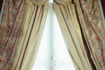 When cleaning drapes with rubber backing, it's important not to damage any of the material.