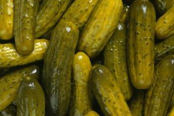 Sweet gherkins contain a large amount of added sugar.