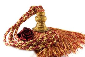 An ornate tassel really shows off as a fan pull.
