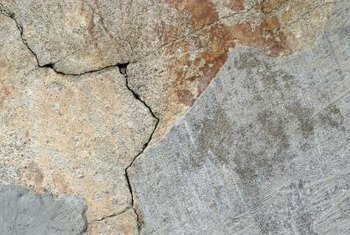 Cover minor cracks in concrete with Thinset to improve the look.
