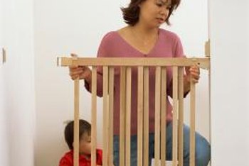 Childproof gates are often used to protect children from falling down stairs.