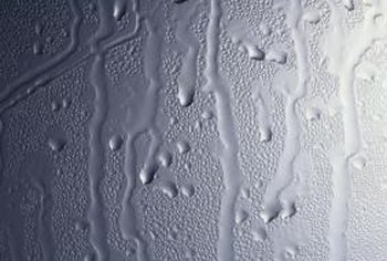 Hard water can leave limescale deposits in your shower.