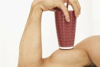 Adding a mass gainer or protein powder to your diet boosts your calorie intake.