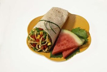 The most nutritious wraps contain lots of vegetables.