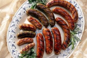 Grilling is a good preparation method for honey garlic sausages.