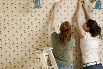 When removing wallpaper, allow extra time afterward for cleaning the walls of any remaining glue.