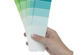 Paint cards make choosing colors for an ombre effect simple.