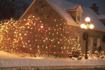 Solar-powered holiday lights are as decorative as traditional electric lights.