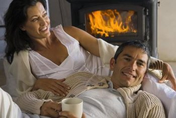 A pellet stove burns more efficiently with proper air adjustment.