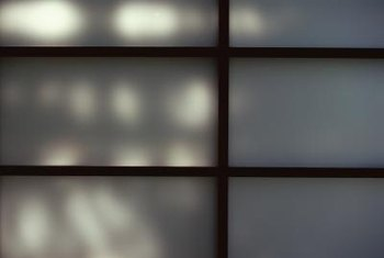 Shoji screens work well for windows where you need privacy but still want light to pass through.