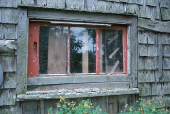 older windows use molding to secure glass panes