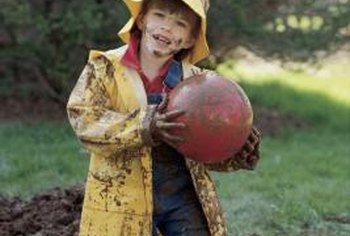 A muddy yard can quickly become a mess when pets or children play there.