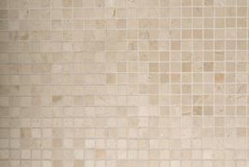 The smaller the tile, the easier the tile job on a bowed wall.