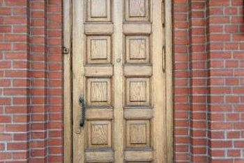 Glazing adds character to a wooden door.